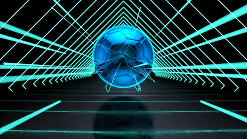 Abstract technological background of football Animation
