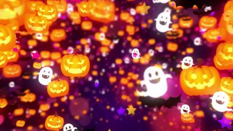 Halloween party,Purple,CG Animation,Loop Animation