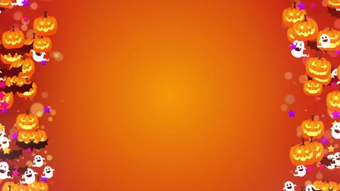 Halloween party,Frame,Orange,CG Animation,Loop CG動画