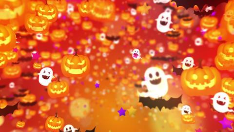 Halloween party,Orange,CG Animation,Loop Animation