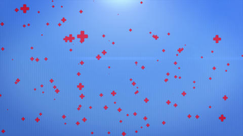 Abstract Background of Medical Particles Over blue background Footage