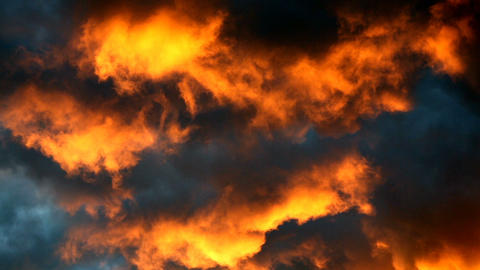 Beautiful clouds. Sunset light Footage