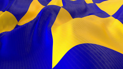 Blue Yellow Cloth Animation