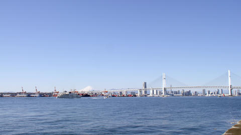 Bridge kanagawa yokohama baybridge V1-0006 Footage