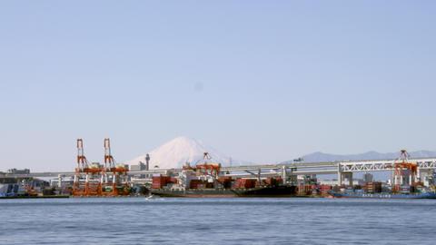 Bridge kanagawa yokohama baybridge V1-0027 Footage