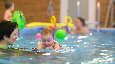 Swimming lessons for young children Live Action