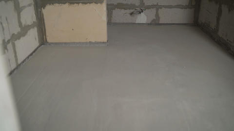 The result is finished flooring work with mortar. The status of the results of Live Action
