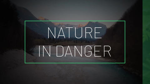 Nature In Danger After Effects Template