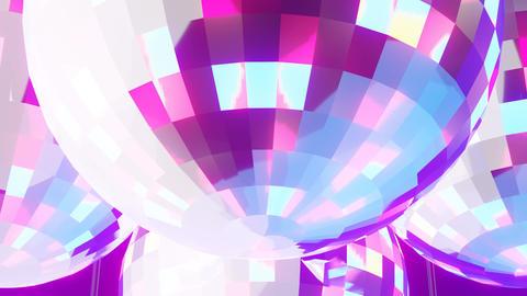 Disco balls on black background CG動画