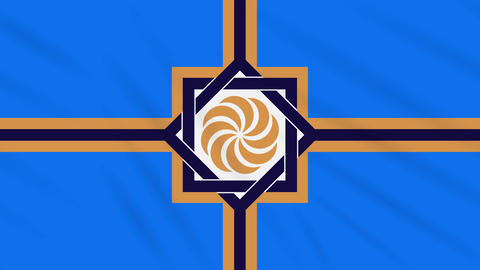 Western Armenia flag waving cloth, ideal for background, loop Animation
