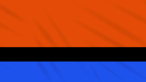 Chagos Islands flag waving cloth, ideal for background, loop Animation