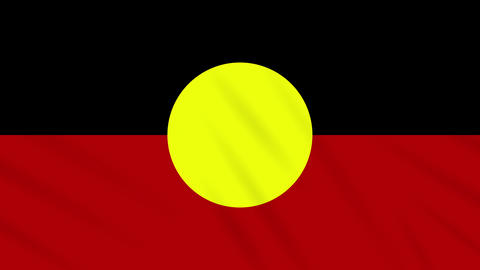 Australian Aboriginal - Mariya flag waving cloth, ideal for background, loop Animation