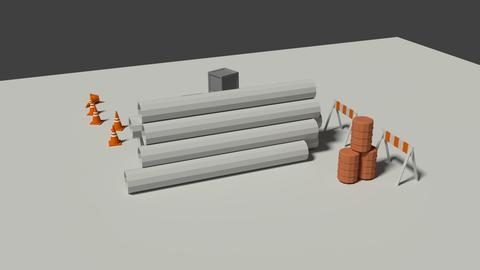 Industrial Misc Elements Pack 3D Model