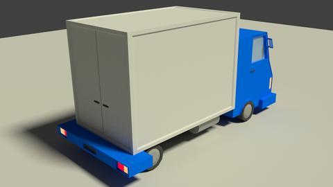 Low Poly Truck Model 3D Model