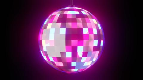 Disco ball on black background CG動画