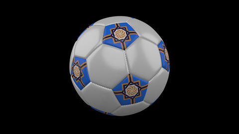 Western Armenia flag on ball rotates on alpha transparency, loop Animation