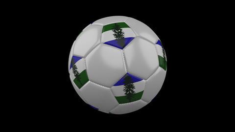 Cascadia flag on ball rotates on alpha transparency, loop Animation