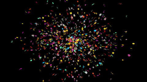 Confetti / High Quality QuickTime Alpha Channel Animation