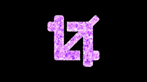 Symbol crop shimmers in three colors: Purple, Green, Pink. In - Out loop. Alpha channel Animation