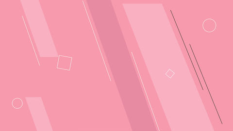 Simple looped pink background with geometric shapes Animation