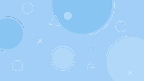 Simple looped blue background with geometric shapes Animation