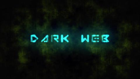 Techno DARK WEB text animation Live Action
