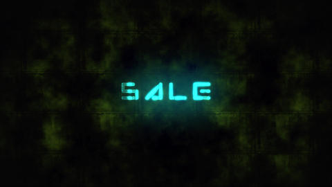 Techno SALE text animation Live Action