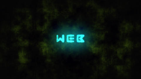 Techno WEB text animation Live Action