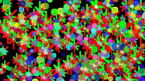 Glitter light KIRAKIRA crazy 4K QTA Animation