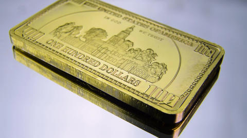 100 hundred dollars gold bar White House USA America wealth Live Action