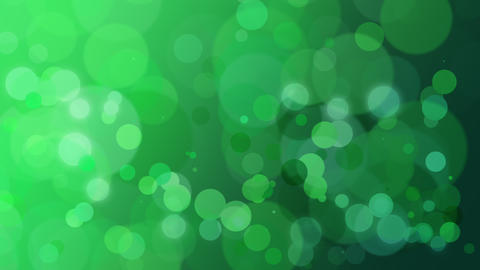 Abstract green bokeh and particles falling Animation