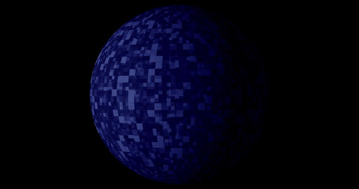 Blue Digital technology background with rotating Planet earth. Seamless loop 4k Live Action