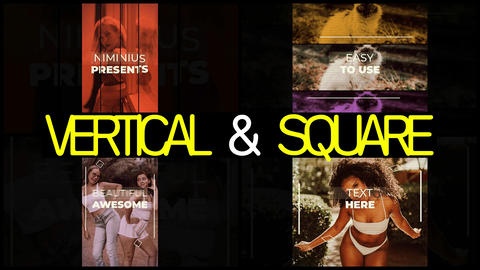Vertical & Square Intro After Effects Template