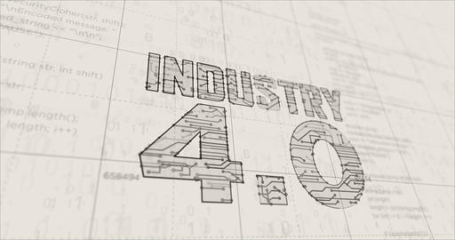 Industry 4.0 sign futuristic sketch Animation