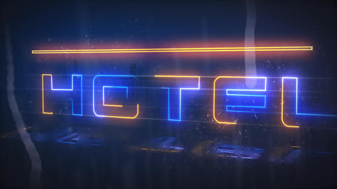 Rainy Neon Reveal After Effects Template