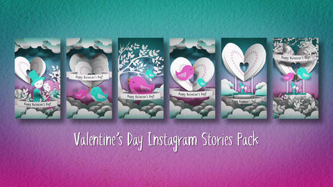 Valentines Day Instagram Stories Pack After Effects Template