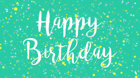 Animated colorful Happy Birthday greeting card Animation