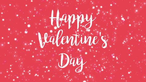 Animated pink Happy Valentine's Day greeting card Animation