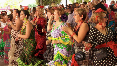 ladies dance and sing at the Feria San Pedro Alcantara Live Action
