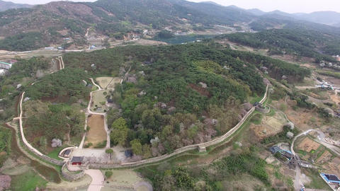 Aerial View of Gochang Eupseong Fortress 01Aerial View of Gochang Eupseong Fortress, Jeonbuk, South Live Action
