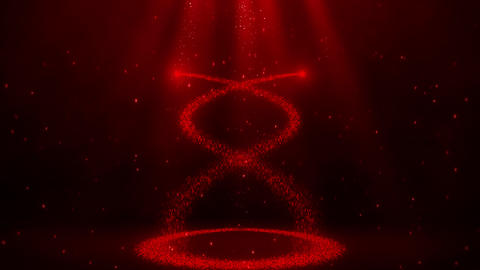 Red Glowing Spiral Particles with Trail Intro Logo Background Animation