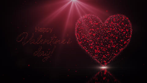 Valentines day wish with heart and light Animation