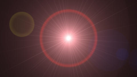 Lens flare light over black background Animation