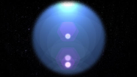 Abstract digital lens flare light effect in circle GIF