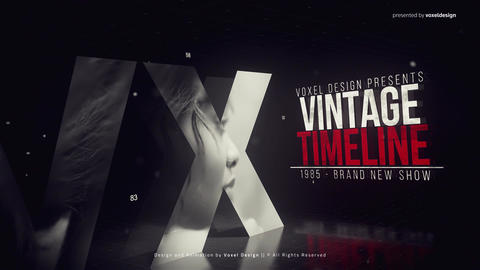 Vintage Timeline Title After Effects Template