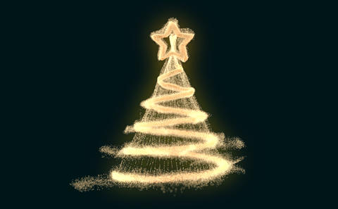 Fun 3D abstract christmas tree Animation