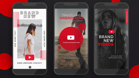 Youtube Instagram Stories Plantillas de Motion Graphics