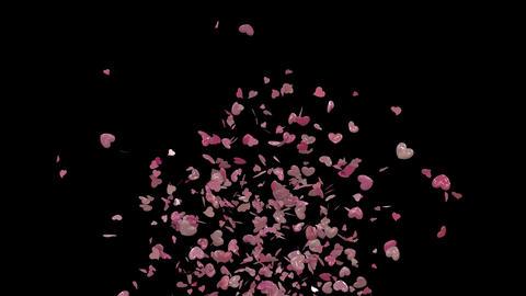 Valentine confetti bottom Animation