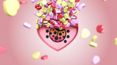 Valentine Candy Box Logo After Effects Template