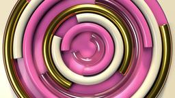 Elegant Round Shapes 2 Stock Video Footage
